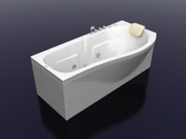 Deep soaking bathtub 3d preview