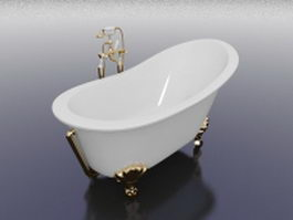 Vintage slipper tub 3d preview
