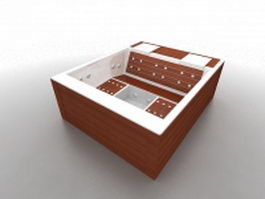Outdoor whirlpool tub 3d preview