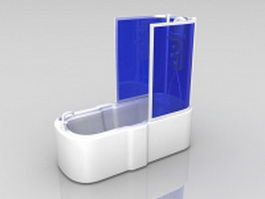 Bathtub with tub shower combo 3d preview