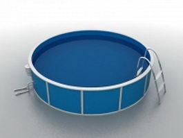 Outdoor round bathtub 3d preview
