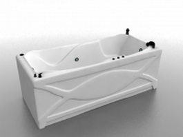 Whirlpool tub design 3d preview