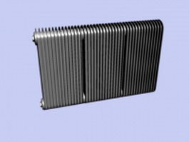 Cast iron radiator 3d model preview