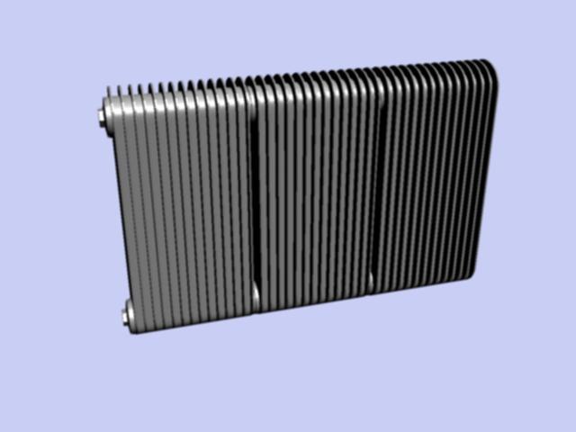 Cast iron radiator 3d rendering