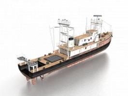 Anchorage-class dock landing ship 3d model preview