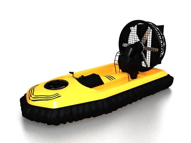 Mini-Airboat 3d rendering