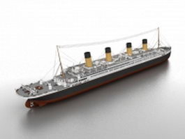 Heavy cruiser 3d model preview