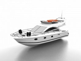 Small luxury yacht 3d preview