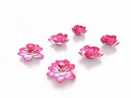 Lotus flowers 3d model preview