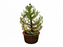 Potted christmas tree 3d model preview