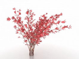 Red leaf birch tree 3d model preview