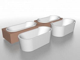 Built in soaking tub 3d preview