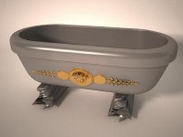 Vintage bathtub 3d preview