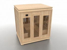 Wooden Sauna room 3d preview