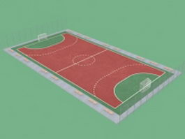 Football pitch 3d preview