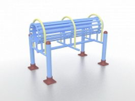 Outdoor fitness equipment for adults 3d preview