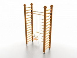 Swedish bars exercise equipment 3d preview