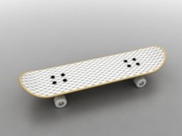 White skateboard 3d preview