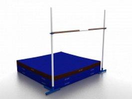 High jump mat and bar 3d model preview
