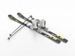 Ski equipment 3d preview