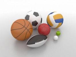 Sports balls 3d preview
