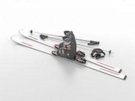 Ski set 3d preview
