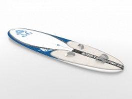 Longboard surfboard 3d preview