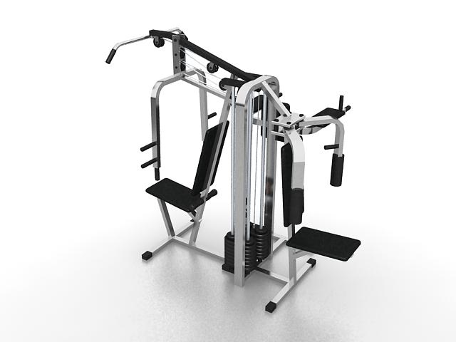 Strength training equipment 3d rendering