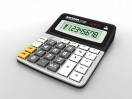 Electronic calculator 3d model preview