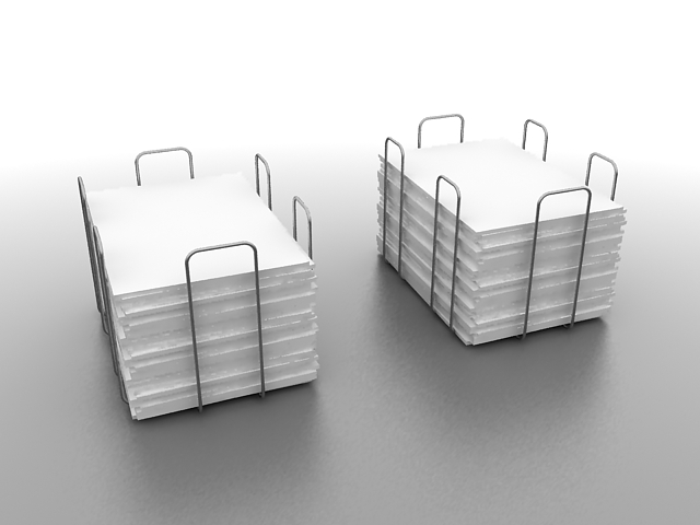 Wire mesh paper tray 3d rendering