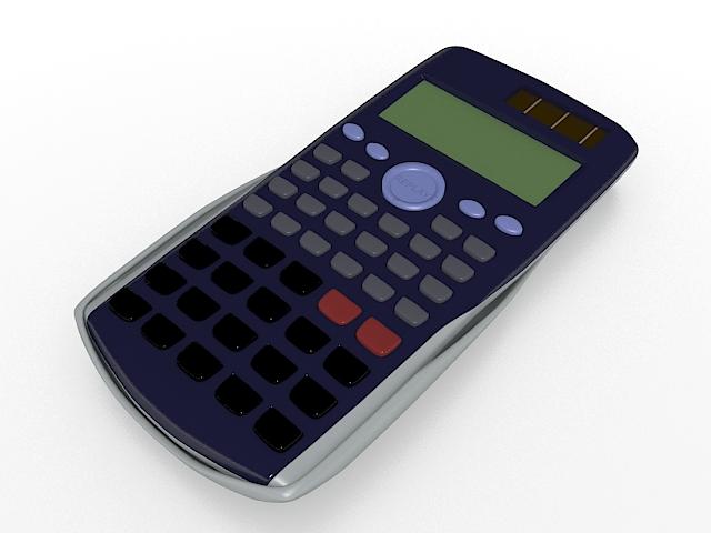 Scientific calculator 3d rendering