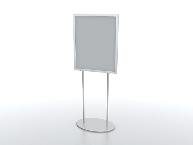 Portable sign stand 3d rendering