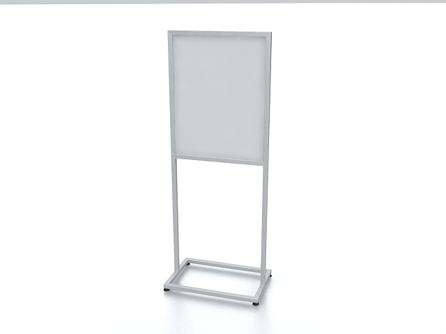 Sign display stand 3d rendering