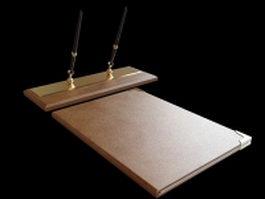 Executive file folder and pen holder 3d model preview