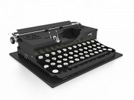 Old typewriter 3d model preview