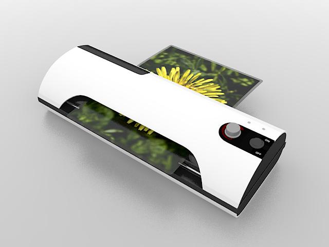 Photo printer 3d rendering
