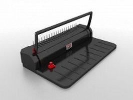 Paper perforating machine 3d model preview