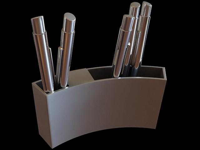 Pen holder for desk 3d rendering