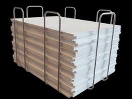 Metal desk file tray 3d preview