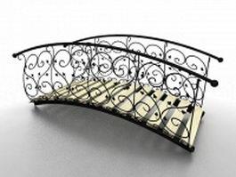 Cast iron garden bridge 3d model preview