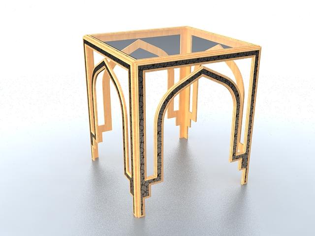 Gazebo pergola design 3d rendering