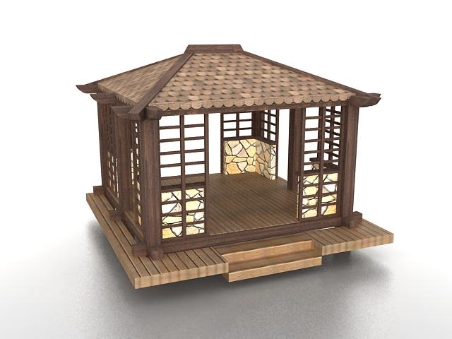 Waterside pavilion 3d rendering