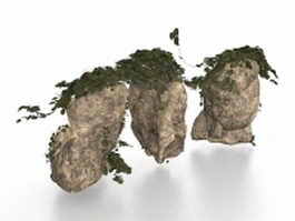 Large rocks for garden landscaping 3d preview