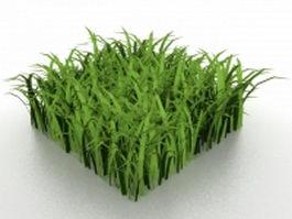 Grass pieces 3d preview