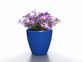 Blue big urn planters 3d model preview