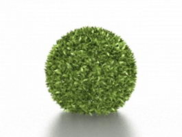 Green topiary ball 3d preview