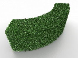 Curved hedge plants 3d preview
