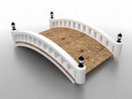 Arched footbridge 3d preview