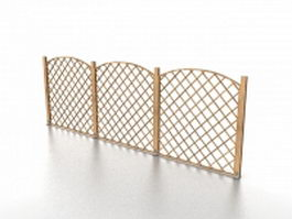 Low garden fence 3d preview