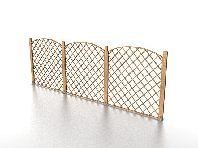 Low garden fence 3d rendering